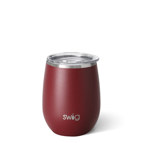Matte Maroon Stemless Wine Cup (14oz)