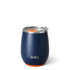 Matte Navy/Orange 14oz Stemless Wine Cup - Swig Life