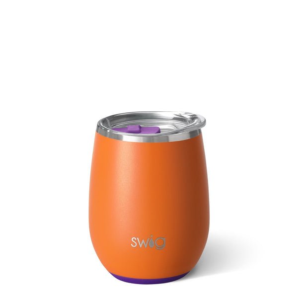 Matte Orange/Purple Stemless Wine Cup (14oz)