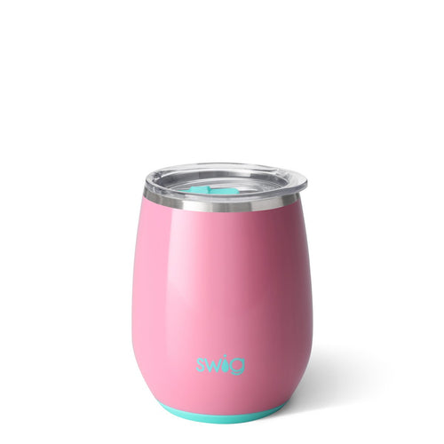 Glossy Peony Stemless Wine Cup (14oz)