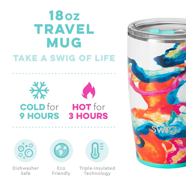 Color Swirl Travel Mug (18oz)