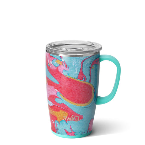 Matte Navy/Orange 18oz Mug