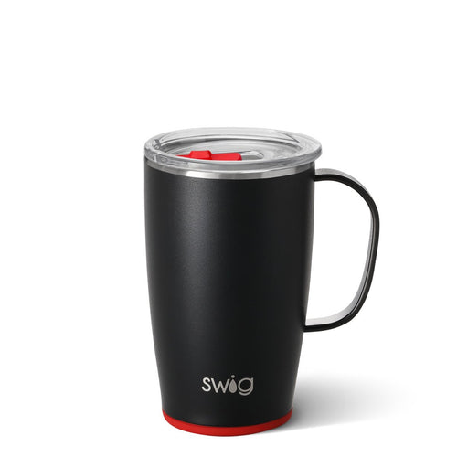 Matte Black/Red Travel Mug (18oz)