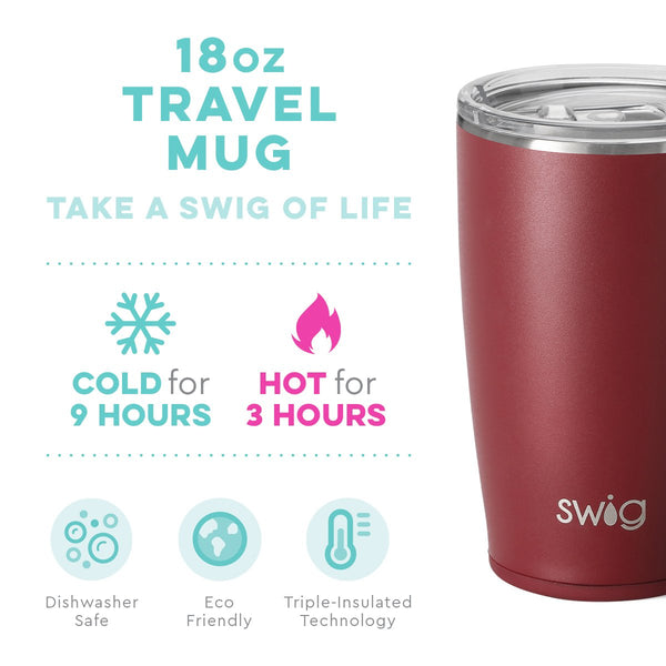 Matte Maroon Travel Mug (18oz)