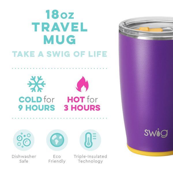 Matte Purple/Yellow Travel Mug (18oz)