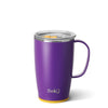 Matte Purple/Yellow Travel Mug (18oz) - Swig Life