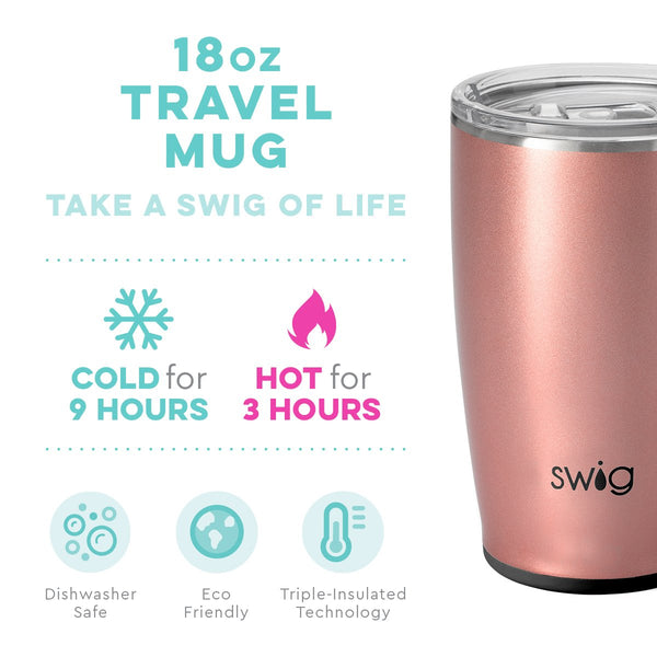 Shimmer Rose Gold Travel  Mug (18oz)