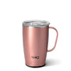 Shimmer Rose Gold Travel Mug (18oz) - Swig Life