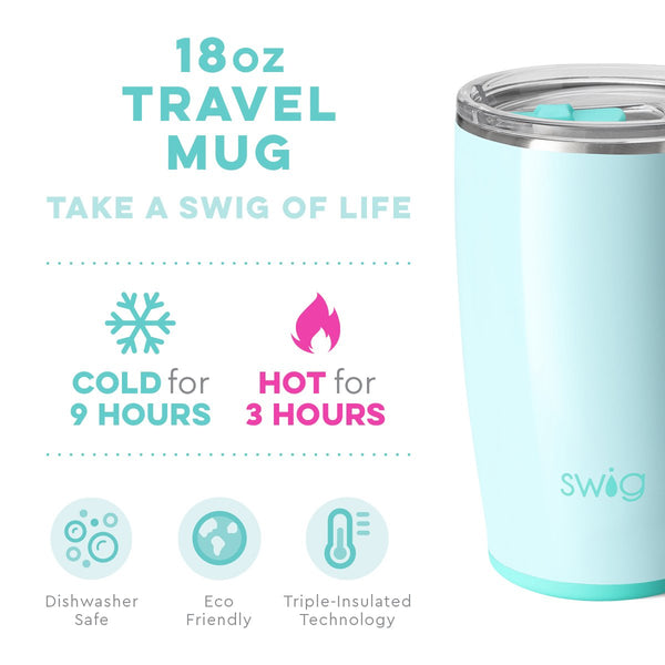 Glossy Seaglass Travel Mug (18oz)