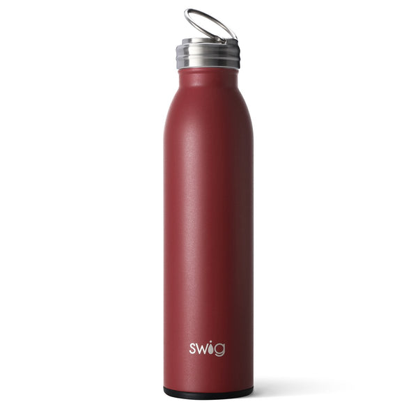 Matte Maroon/Black Bottle (20oz)
