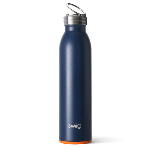 Matte Navy/Orange 20oz Bottle