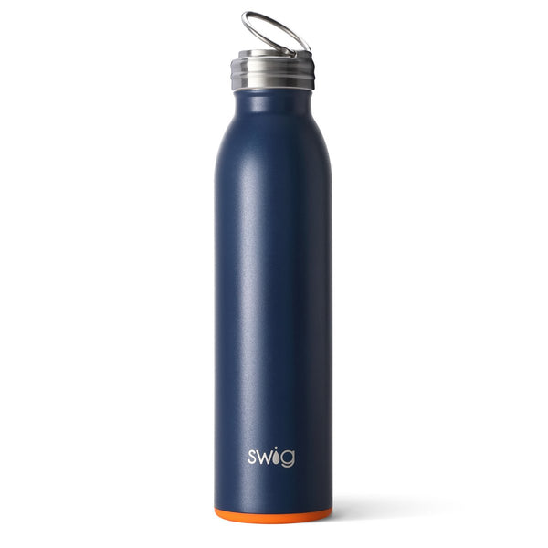Matte Navy/Orange Bottle (20oz)