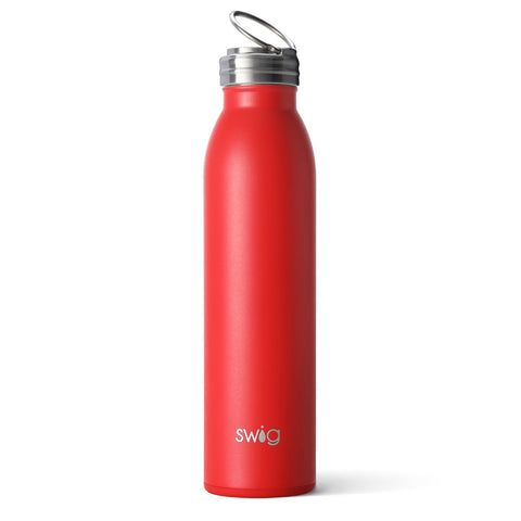 Matte Crimson Travel Mug (18oz)