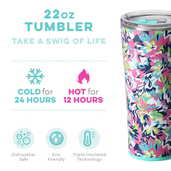 22oz Frilly Lilly Stainless Steel Tumbler Swig Life
