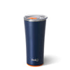 Matte Navy Blue/Orange Tumbler (22oz) - Swig Life