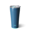 Glossy Denim Blue Tumbler (32oz) - Swig Life