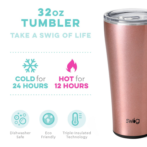 Shimmer Rose Gold Tumbler (32oz)