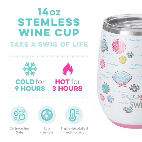 SCOUT + Swig Life Let's Shellabrate Stemless Wine Cup (14oz) info