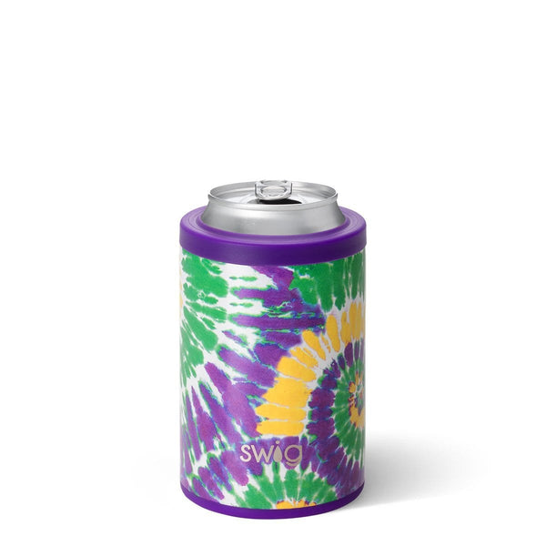 Mardi Gras Tie Dye 12oz Can Cooler