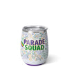 Mardi Gras Parade Squad Stemless Wine Cup (14oz) - Swig Life