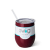 Maroon 12oz Stemless Wine Cup - Swig Life