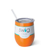 Orange 12oz Stemless Wine Cup - Swig Life