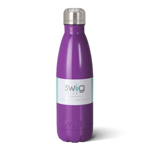 Swig Life 17oz Bottle in Purple with Label