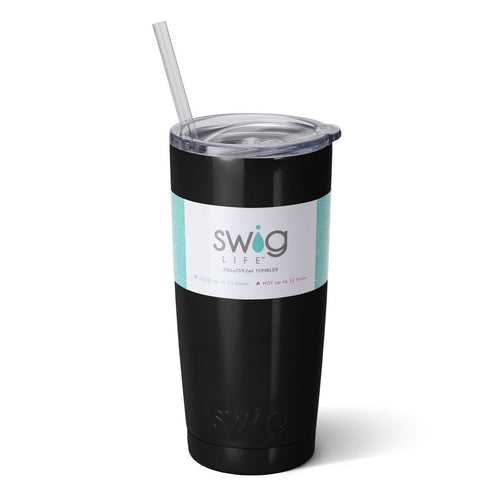 Swig Life 20oz Tumbler in Black with Label