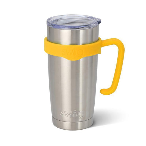 Rubber grip handle in the color Yellow, for 20oz tumblers