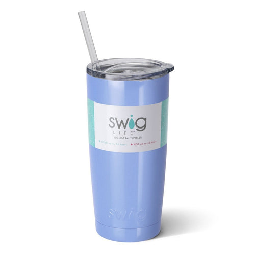 Swig Life 20oz Tumbler in Hydrangea with Label