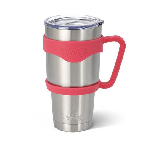 Rubber grip handle in the color Coral, for 30oz tumblers