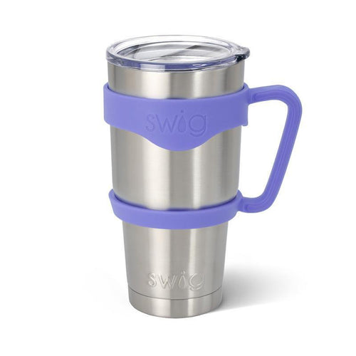 Rubber grip handle in the color Hydrangea, for 30oz tumblers