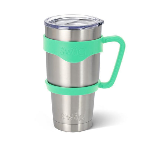 Rubber grip handle in the color Mint, for 30oz tumblers