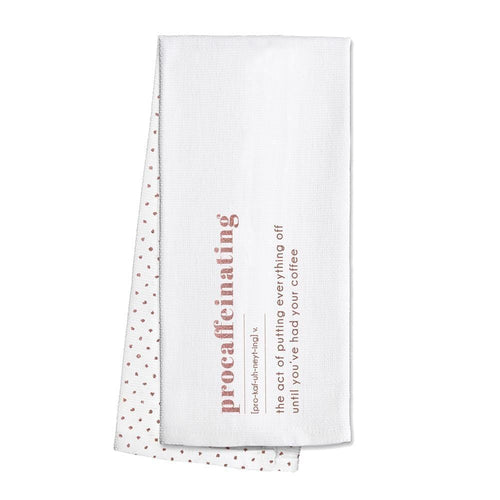 Swig Life Rose Gold Barware Procaffeinating Tea Towel
