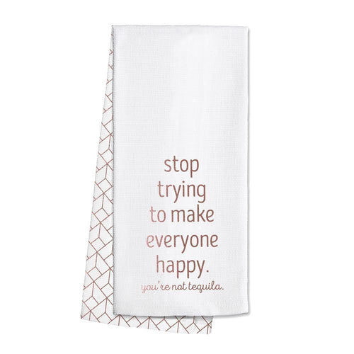 Swig Life Rose Gold Barware You're Not Tequila Tea Towel