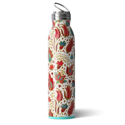 Swig Life 20oz Bottle wrapped in the print Fancy Floral
