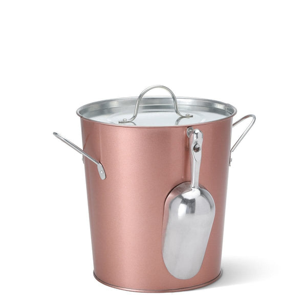 Swig Life Barware Rose Gold 9-Quart Ice Bucket with Scoop and Liner