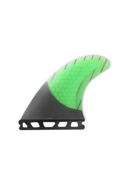 Nitrous Single Tab Fin - Set 3 - Honeycombe / Carbon - Green '17