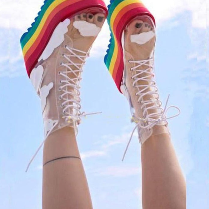 Amour Rainbow Platform Cloud Sneakers - AfterAmour