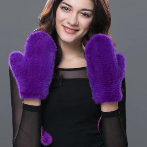 Natural Mink Fur Gloves - AfterAmour