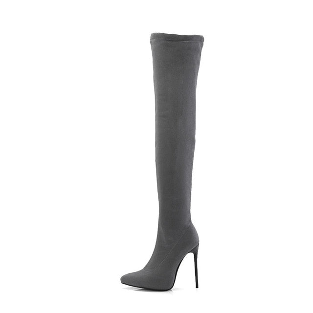 Thigh High Stiletto Heel Boots - AfterAmour