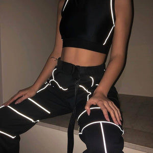 Amour Reflective Cropped 2 Piece Tracksuit - AfterAmour