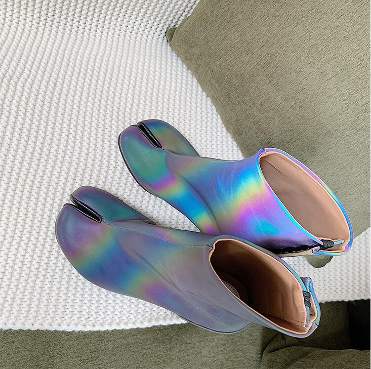 Amour Reflective Tabi Boots - AfterAmour