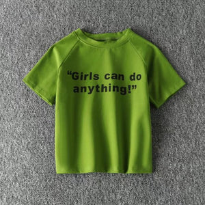 GIRLS CAN DO ANYTHING crop top - AfterAmour