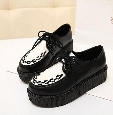 retro lace-up platform shoes - AfterAmour