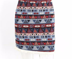 high waisted boho skirt - AfterAmour