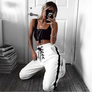 lace up active sweatpants - AfterAmour