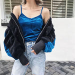first team vintage velvet baseball jacket - AfterAmour