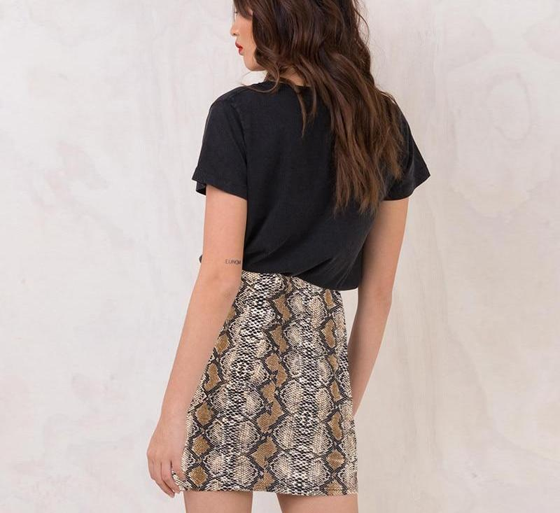 snakeskin skirt - AfterAmour