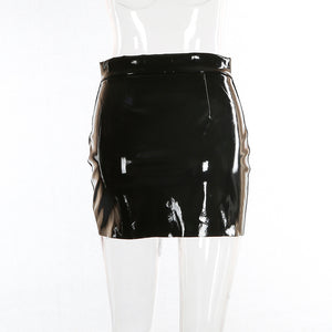 allure zip-up mini skirt - AfterAmour